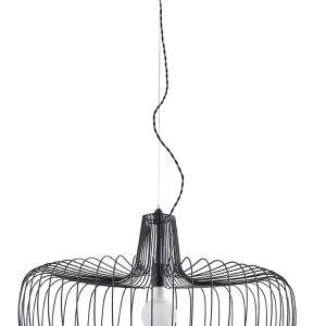 lámpara suspensión varilla metal